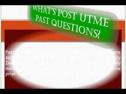 DOWNLOAD FREE UNIJOS POST UTME PAST QUESTIONS & ANSWERS FROM THIS SITE. SEE VIDEO.