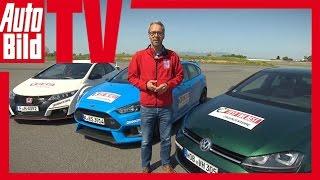 Ford Focus RS vs Honda Type R vs VW Golf R (2016) - Review/ Fahrbericht/Test