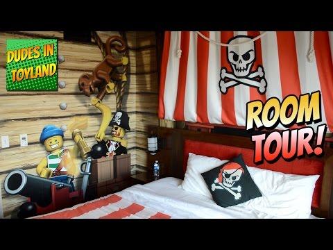 Legoland Hotel California - LEGO PIRATE ROOM TOUR Themed Resort 2016 San Diego Carlsbad, CA