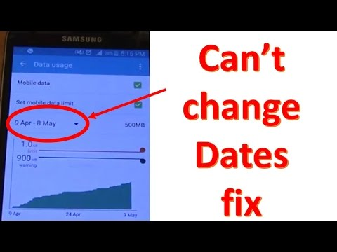 Galaxy S5 can't change dates in Data Usage setting fix