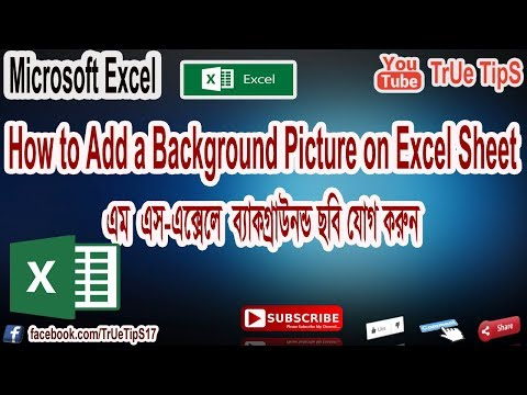 How to Add/Remove a Background Picture in Excel Sheet Bangla