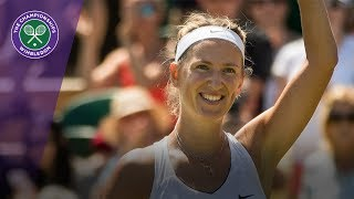 wimbledon 2017 ball girl feeds to victoria azarenka