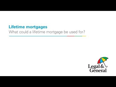What could a lifetime mortgage be used for?