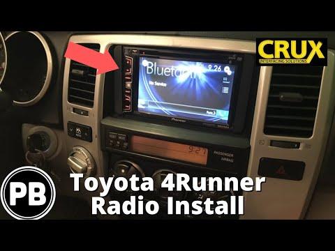 2003 - 2009 Toyota 4Runner Touch Screen Radio Install | Pioneer AVH-X2700BS
