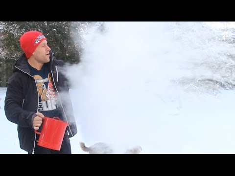Throwing Boiling Water in Cold Temperatures Experiment! (Toronto, Canada @ -25C) | Furious Pete