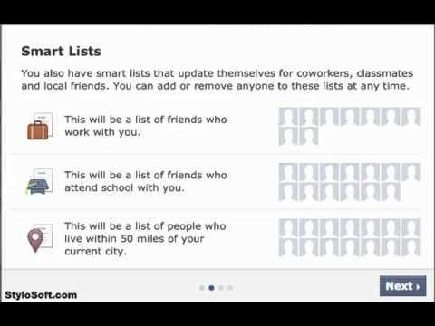 Facebook Smart List. Friends Group