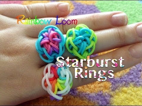 EASY Rainbow Loom Starburst Rings