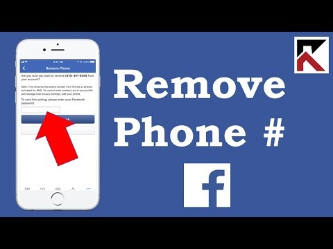 How To Remove Phone Number From Facebook App 2018