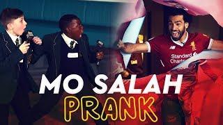 Mo Salah bursts through wall to surprise kids   KOP KIDS PRANK