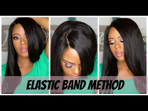 Elastic Band Method Tutorial - Dyhair777 300% Lace Frontal