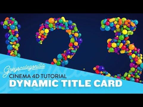 Cinema 4D Tutorial - Animated Mograph Dynamics Title Card