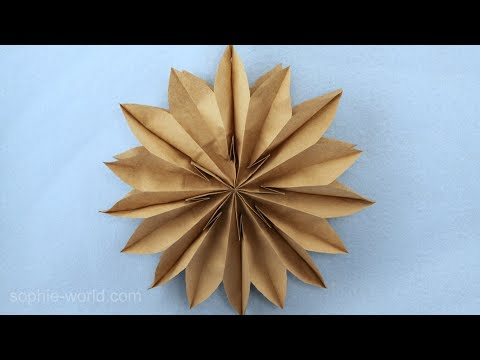 How to Make a Paper Bag Star | Sophie's World