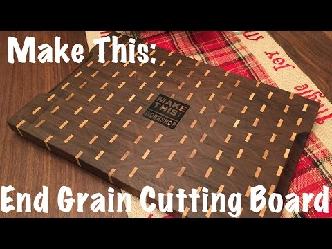 Make This: End Grain Cutting Board Brick ish pattern