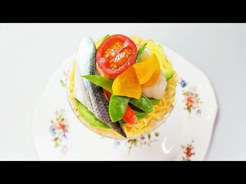 How to Make and Decorate Chirashi Sushi | Cocktail Glass ちらし寿司の作り方