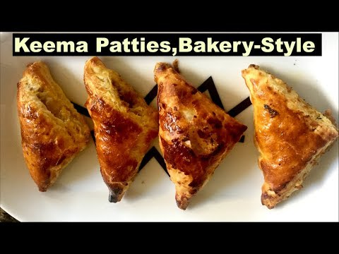 Keema Patties Recipe | How to make Mince Patties at home | Bakery-Style Keema Patties (Puff Pastry)