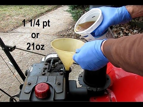 How to change the oil on an MTD snow blower with a Tecumseh engine