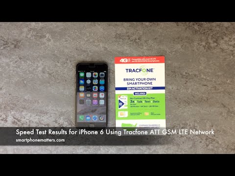 Speed Test Results for iPhone 6 Using Tracfone ATT GSM LTE Network