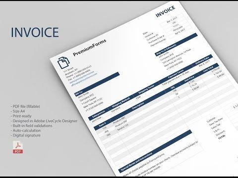 Smart Invoice (fillable PDF)