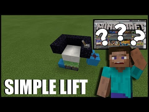 The New Minecraft is CONFUSING! Simple Lift Tutorial