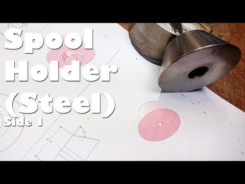 (1/2) Taper Turning a Heavy Steel Spool Holder on the Mini Metal Lathe