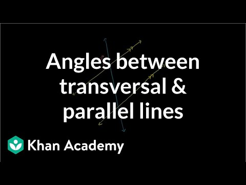 Figuring out angles between transversal and parallel lines | Geometry | Khan Academy