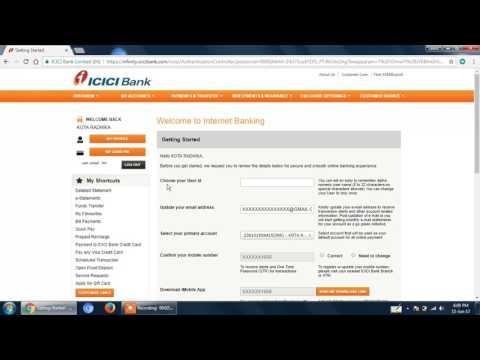 icici bank new user net banking  LOGIN