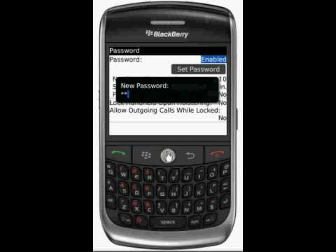 How to set a Blackberry Device Password