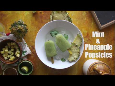 Mint and Pineapple Popsicles - How to make popsicles