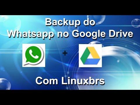 Backup do Whatsapp integrado ao Google Drive - Português