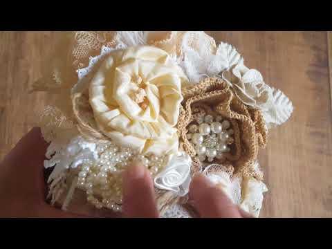 Shabby Chic Storage Unit & Lace Pocket Book.... Birthday Gifts 4 Tricia YT-alittleshabbychic