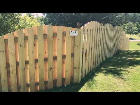 Arched Shadow Box Privacy Fence installed in Nashville