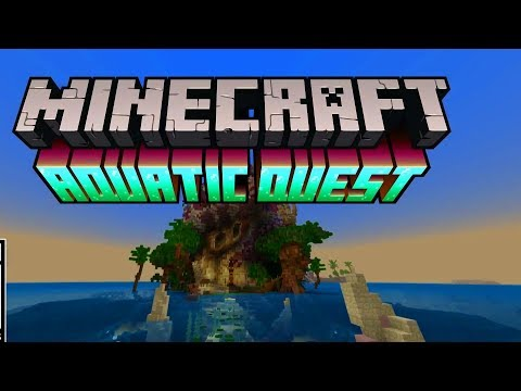 Minecraft Xbox / PE - New AQUATIC QUEST (FREE DLC)