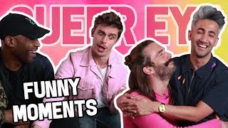 """""""Queer Eye"""" Cast FUNNY MOMENTS (TRY NOT TO LAUGH!!)"""