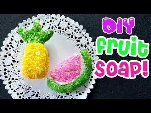 DIY FRUIT SOAP | PINEAPPLE | WATERMELON SOAP