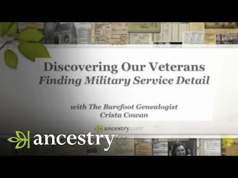 Discovering Our Veterans - Finding Military Service Details