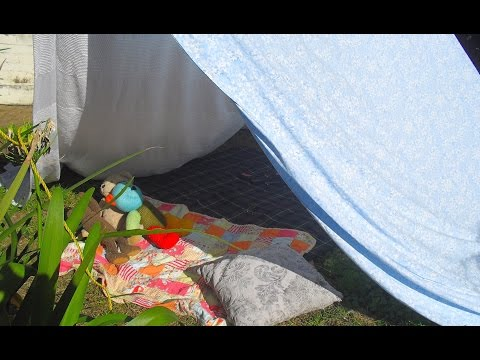 How to make a homemade tent