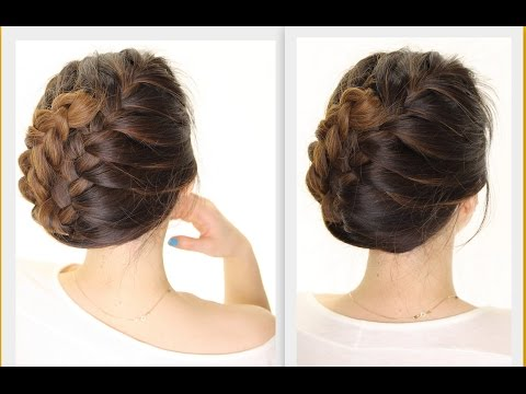 ★ 5-Minute French BRAID Updo | Easy Summer HAIRSTYLES