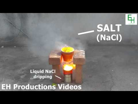 Boiling Table Salt (Sodium Chloride) Into a Gas! [Full HD]
