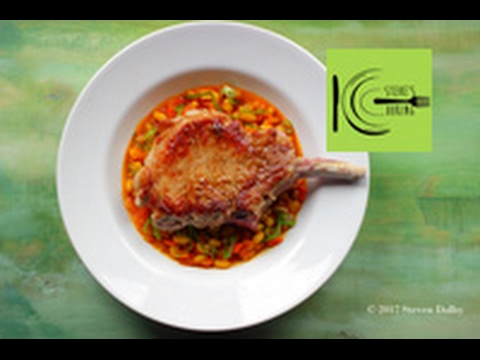 PORK CHOP WITH SAFFRON WHITE BEAN STEW | stevescooking