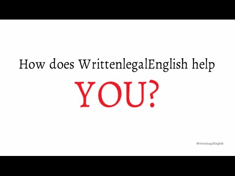 How does Written Legal English help you to improve your writing skills?