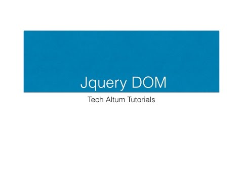 Jquery DOM, Jquery text, html, value and attributes