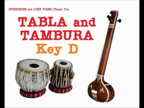 TANPURA and TABLA  for Hindustani and Carnatic Music key D 30 min