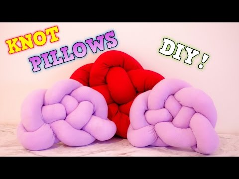 DIY KNOT PILLOW / PINTEREST INSPIRED | Tranquil Inspire