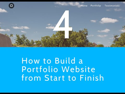 How to Build a Portfolio Website from Start to Finish - Coding the Homepage