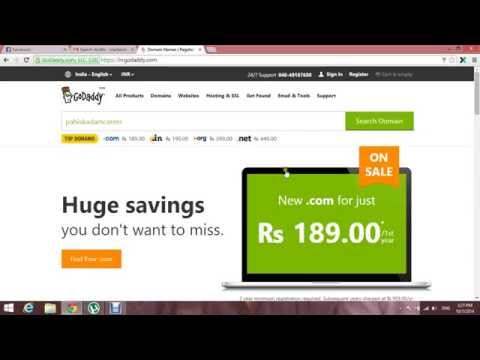 Godaddy:-How to Register Domain Name Step by Step in hindi
