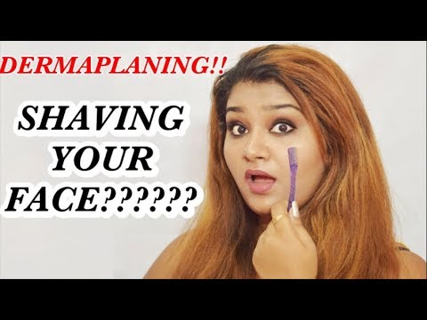DERMAPLANING! SHAVING UR FACE????  |skincare treatment at home, remove dead skin cells & facial hair