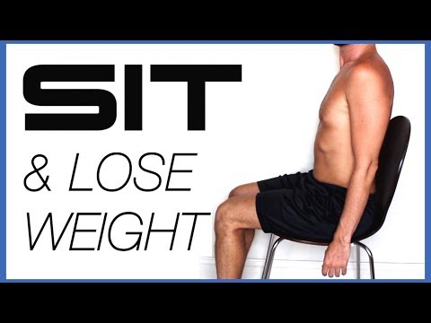 How to LOSE WEIGHT WHILE YOU SIT | 5 Fat Burning Chair Hacks & Workouts