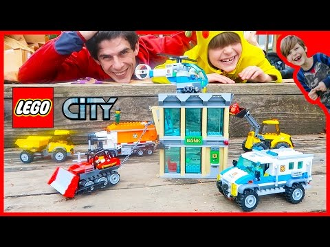 Lego City Police Bulldozer Break-in Time Lapse Build and Play