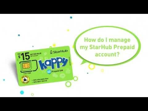 Guide to StarHub Happy Prepaid App