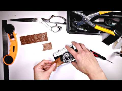 How to Re-skin a Vintage Film Camera ( Olympus Trip35 )